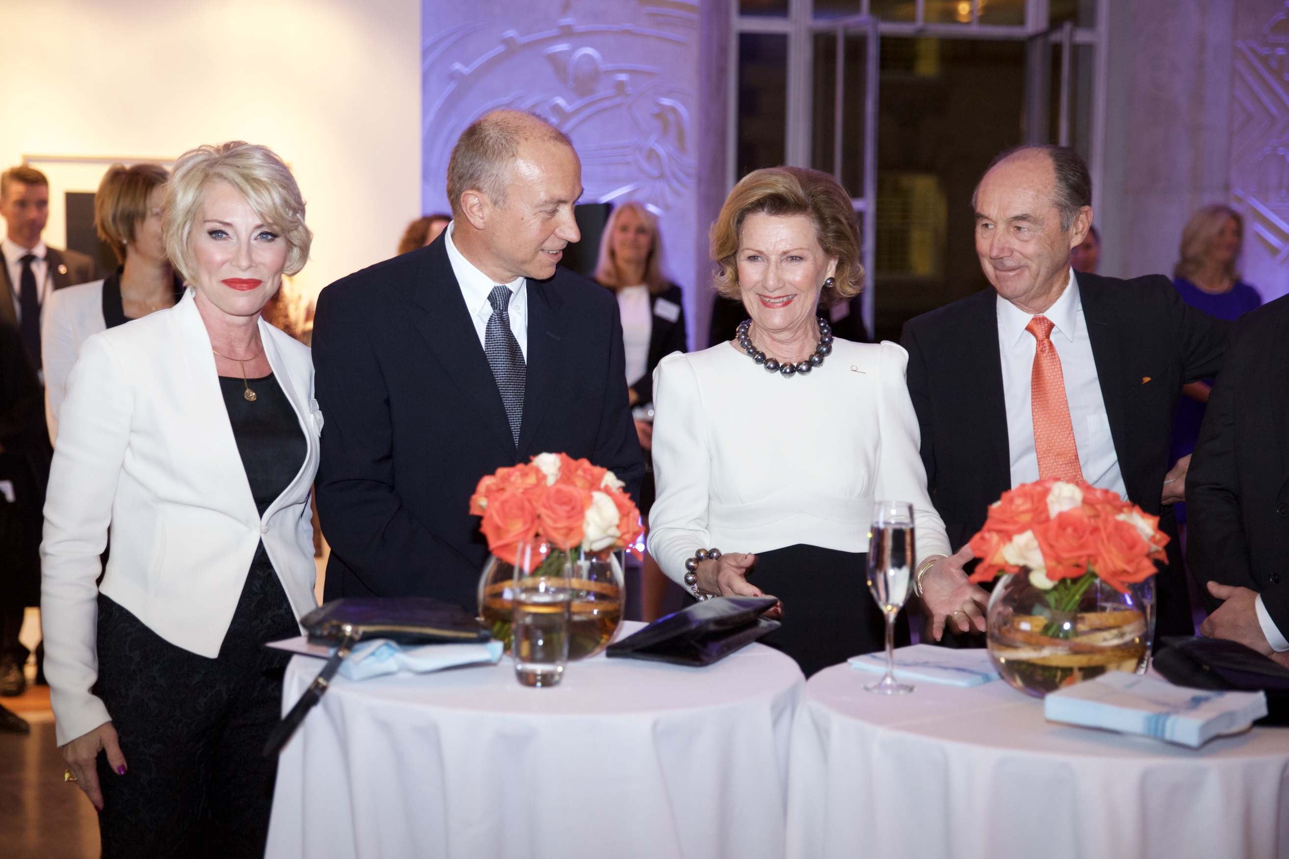 Queen Sonja of Norway was present as a guest at the seminar the power of tomorrow.