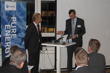 Jan Haggstrom and Per Rosenqvis at biofuel seminar in stockholm