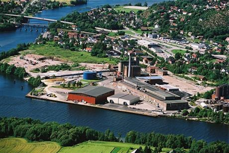 Nordic Paper in Greaker Norway from above